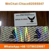 Carte d'ID en PVC transparent personnalisé hologramme Overlay