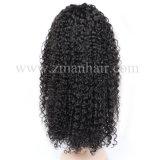 130%-180% Densité main liée Jerry Curly Cheveux humains perruques