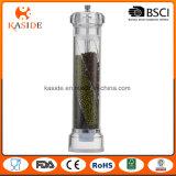 L'acrylique remis sel poivre Grinder avec 3 compartiments