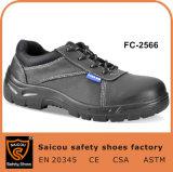 Résistant aux huiles de chaussures en cuir véritable et temps de travail des chaussures de sécurité SC-2566