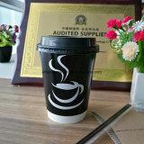 Grado de alimentos de alta calidad reciclado de papel desechables de doble pared taza de té
