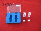 Laboratório cubeta de quartzo transparente