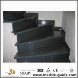 Azulejo de suelo negro de la escalera del granito de China del precio de piedra natural (YQM-S1000)