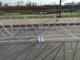 Порошковое покрытие трубы квадратного сечения портативный заграждение ограждения для продажи (XMR123)
