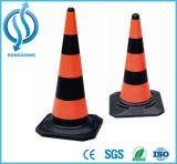 750 mm de base Preta PE Cone de tráfego