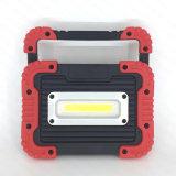 플라스틱 USB 힘 은행 (WL-1065)를 가진 재충전용 옥수수 속 10W LED 일 빛