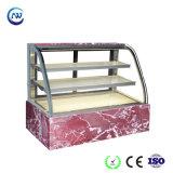 3 couches double réfrigérateur en verre incurvé d'étalage de pâtisserie/boulangerie (RY880A-M2)