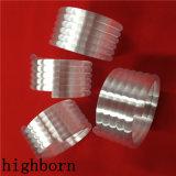 Fundido de alta opaco de tubos de cuarzo en espiral con 6 bobinas