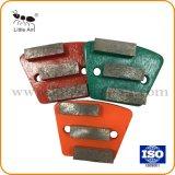 Trapèze meulage de béton de diamants de la plaque avec 3 Segment