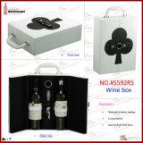 Новый дизайн моды провод фиолетового цвета кожи с двумя вино упаковке (5592R13)