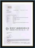 De steekproef Vrije AISI304 gebruikte de Chemische Bal van het Roestvrij staal van het Product