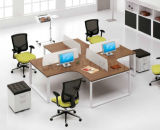 Ordinateur de bureau de l'écran Station de travail 4 personne avec le côté Table (SZ-WSE25)