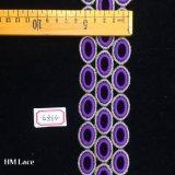 commercio all'ingrosso viola di guarnizione Hme864 del fornitore dell'abito del merletto del cerchio di Murah del merletto di 5.5cm