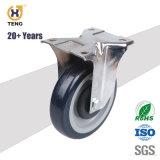 """ヨーロッパの様式によって通される茎のゴム製足車の車輪、4 """" 5 """""""