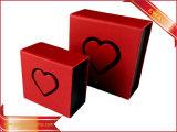 Papier rouge boîte à bijoux Anneau papier Box