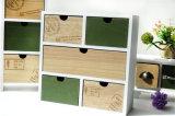 일본 작풍 앙티크 나무로 되는 5개의 서랍 내각 포도 수확