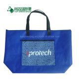 Lavable personalizados baratos Tejida PP Tiendas Bolso con bolsillo exterior
