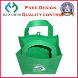 Sac amical réutilisable non tissé pliable promotionnel d'Eco (KSD-903)
