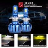 Faro automatico infiammante di polarità H7 LED della lampadina del faro di colore doppio LED non