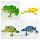 Jouets animaux de grenouille de simulation de mini vinyle