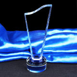 Concesión cristalina del trofeo de la estrella para el regalo del recuerdo