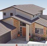 Azulejos de azotea revestidos del metal de la piedra del material de material para techos del aislante de calor