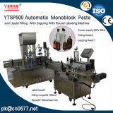 Máquina de etiquetado de relleno de Ytsp500 que capsula Monoblock para el alcohol