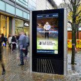 Pantalla táctil del soporte del suelo que hace publicidad de la visualización al aire libre del LCD