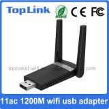 Realtek Rtl8812bu 1200Mbps de alta velocidad 802.11AC se dobla adaptador de WiFi de la radio del USB 3.0 de la venda para el dispositivo casero elegante