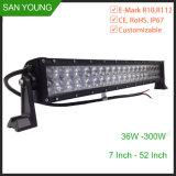 6D de la barra de luz LED 72W 12 pulgadas de doble hilera offroad