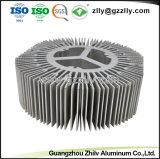 고성능 해바라기 모양 알루미늄 단면도 열 싱크