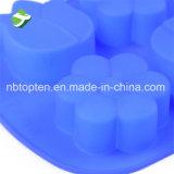 100 % du silicone de qualité des aliments 6-forme de fleur de la cavité du moule à gâteau