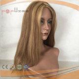 Longueur courte Haut de la soie Lace Front Perruque Blonde (PPG-L-01726)
