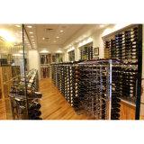 小売店の表示使用の金属の床の記憶のワイン・ボトルラック