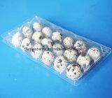 Bandeja plástica del cartón del huevo de 18 codornices de los orificios