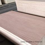 China ranurado de mejor calidad de madera contrachapada de grado comercial, muebles de madera contrachapada de ranurado