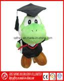 눈금 개구리의 귀여운 녹색 견면 벨벳 장난감