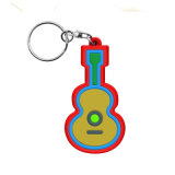Silicone borracha PVC maleável personalizado chaveiro promocional, Key Ring, Porta-chaves
