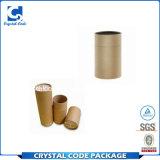 Tubo biodegradable del papel de la cartulina de la talla estándar