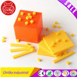 Os brinquedos educativos de plástico de dez pequenas Cube