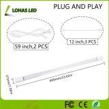 12W e 2 ft 3 etapa crescer o tubo de luz de LED de obscurecimento de plantas cultivadas em casa