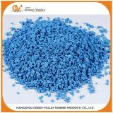 Синий EPDM гранулы резиновые микросхемы для баскетбола Sport поверхности