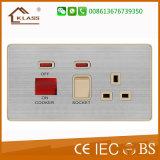 20A de alta calidad D. P Interruptor de pared con neón
