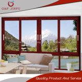 Voir le profil en aluminium en bois coulissante en verre des fenêtres à double voies