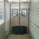 Hoja sola/doble de la puerta de oscilación del acero inoxidable de la puerta del tráfico del impacto