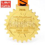 Qualität-Hersteller-kundenspezifische Medaille mit orange Farbband