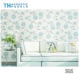 Eco friendly Fibra de poliéster interior cubierto de papel tapiz decorativo Panel de absorción de sonido para el panel de pared