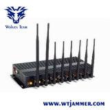 8 de krachtige Stoorzender van Cellphone van de Hoge Macht WiFi van de Antenne 3G/4G (met de Draagbare Doos van het Aluminium)