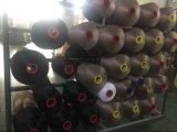 100%년 폴리에스테는 길쌈에게 양말 뜨개질을 하기를 위한 스판덱스에 의하여 덮은 털실을 착색한다