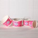 Tazza di carta a gettare stampata abitudine del gelato